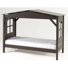 Vipack Pino Cabin House Shaped Single (90cm) Bed Taupe