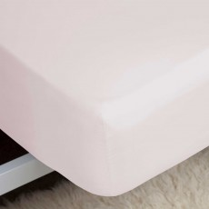 "Belledorm 200 Thread Count Fitted Sheet (11"") Powder Pink"