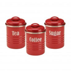 Typhoon Vintage Kitchen Red Set of 3 Storage Containers