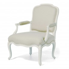 Willis & Gambier Ivory Upholstered Armchair