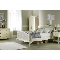 Willis & Gambier Ivory Bedroom Bench c/w Upholstered Seat Pad