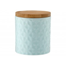 Ladelle Halo Flower Turquoise Embossed 12cm Storage Canister