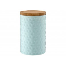 Ladelle Halo Flower Turquoise Embossed 17cm Storage Canister