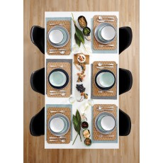 Ladelle Temper 16 Piece Grey & White Dinner Set