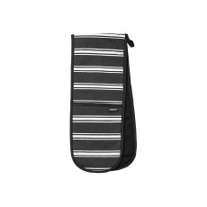 Ladelle Black Butcher Stripe Oven Mitt