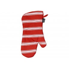 Ladelle Red Butcher Stripe Pot Holder & Oven Mitt Set