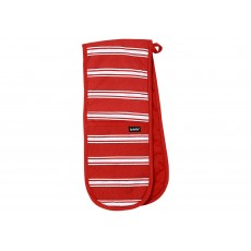 Ladelle Red Butcher Stripe Oven Mitt