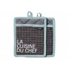 Ladelle La Cuisine Charcoal Pot Holder Pair