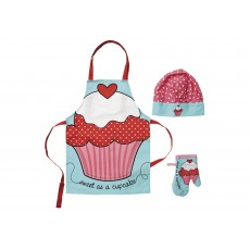 Ladelle Sweet Cupcake Kids Chef Set