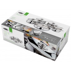 Stellar 1000 5 Piece Saucepan Set With Stainless Steel Lids
