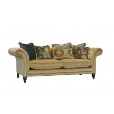 Alexander & James Eden 3 Seater Scatter Back Sofa Venetian Ochre Fabric Grade C