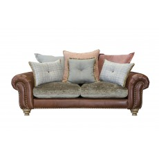 Alexander & James Bloomsbury 2 Seater Scatter Back Sofa Bound Tan Boy Leather