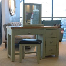 Montreal French Grey 3 + 1 Drawer Dressing Table & Vanity Mirror & Stool