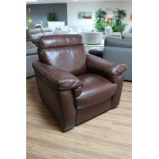 Natuzzi Marcello Electric Reclining Armchair Leather