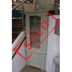 Brittany 1 Door Corner Top Glass Unit With Light (Classic)