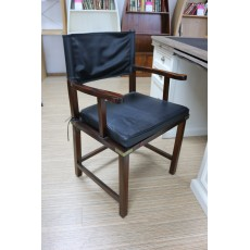 Chair Military Black Leather