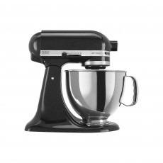 Kitchen Aid Artisan 4.8L Tilt Head Stand Mixer Black Caviar