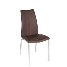 Asama Dining Chair Chocolate Faux Leather