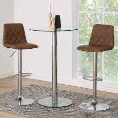 Emu Leather Bar Stool Light Brown