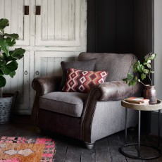 Clint Armchair Outback Brown Fabric Tolosa Funghi Mix