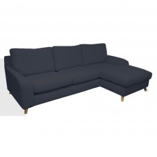 Clarina 3 Seater Sofa With Chaise RHF Fabric B Dark Blue