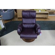 Eden Narrow Manual Recliner Leather Category 24