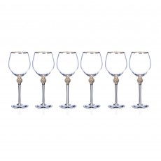 Newgrange Living Platinum Grace Goblets Set of 6 in Hat Box