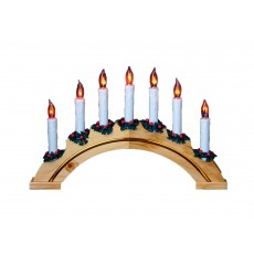 Rainbow Flickering 7 Light Candlebridge
