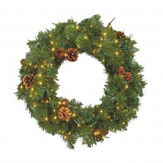 60cm Wreathbrights with 160 White LED Lights