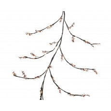 Red & White 150cm Indoor Twig & Berry Garland with Warm White LED Lights