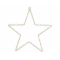 Gold 58cm x 58cm Warm Outdoor Micro LED Star Frame