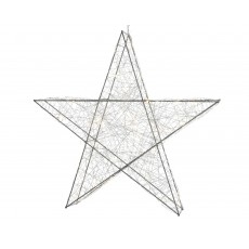 Warm White 7cm x 50cm x 47cm Indoor Micro LED Wire Star