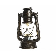 Brown Antique Battery Operated 20cm x 34cm Metal Storm Lantern