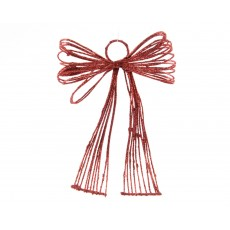 Red 17cm x 14cm x 4cm Iron Bow With Hanger