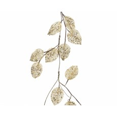 Gold 100cm Leaf Garland With Glitter Light