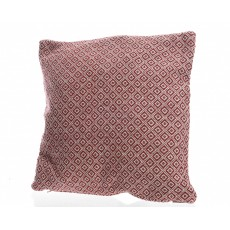 Red Cotton 45x45cm Cushion With Fringes