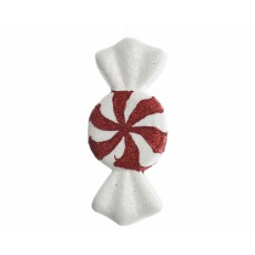 Red and White Candy Foam Figure 3cm x 20cm x 9cm