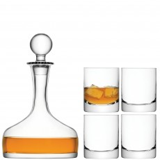 LSA Whiskey Decanter & 4 Glasses Set