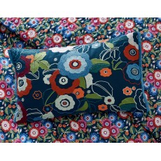 V & A Primula Cushion Navy
