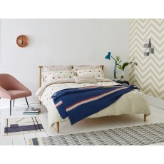 Scion living Eloisa Knitted Throw Rhubarb & Indigo