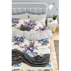 Joules Charlotte Floral Single Duvet Cover Cream