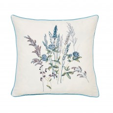 V&A Blythe Meadow 40cm x 40cm Teal Cushion