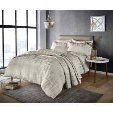 Harlequin Asuka Moonstone Double Duvet Cover