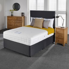 Woodstock Memory Pocket King (150cm) Platform Top Divan Set