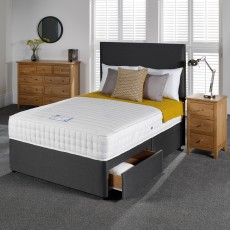 Woodstock Memory Pocket King (150cm) Platform Top 4 Drawer Divan Set