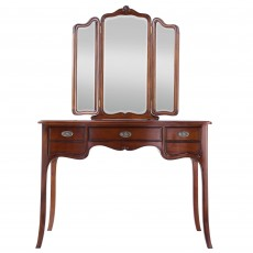 Genevieve Mahogany Dressing Table c/w Vanity Mirror