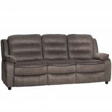 Marchesi 3 Seater Sofa Suede Look Grey