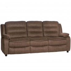 Marchesi 3 Seater Sofa Suede Look Brown