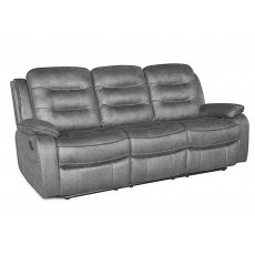 Marchesi 3 Seater Reclining Fabric Sofa Grey