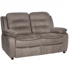 Marchesi 2 Seater Sofa Suede Look Grey